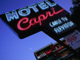 Motel Neon Sign, Act, Union Square, San Francisco, California Photographic Print by Ray Laskowitz