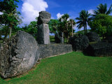 Latte Stones at Taga House, San Jose, Tinian Island, Northern Mariana Islands Photographic Print by John Elk III