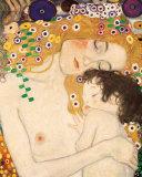 Mère à l'enfant Art par Gustav Klimt