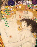 Gustav Klimt - Matka a dt (Mother and Child (detail zobrazu Ti obdob ivota eny), cca1905) Reprodukce
