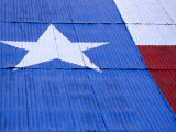 Texas Flag Painted on Barn Roof, Austin, Texas Photographic Print by Richard Cummins
