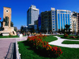 Taksin Square with Cumhuriyet Aniti Monument, Istanbul, Turkey Photographic Print by John Elk III