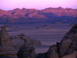 Sunrise over the Acacus Mountains, Awbari, Libya Photographic Print by Doug McKinlay