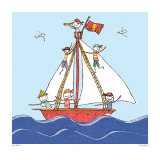 Pirates Ahoy Prints by Sarah Battle