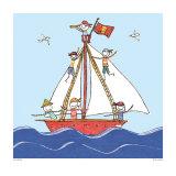 Pirates Ahoy Print by Sarah Battle