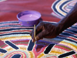Painting of Aboriginal Artwork, Northern Territory, Australia Photographic Print by Oliver Strewe