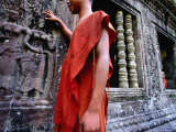 Devastas, Female Deities of Sublime Beauty at Angkor Wat's South Entrance, Cambodia Photographic Print by Stu Smucker
