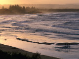 Sunset over Main Beach, Byron Bay, New South Wales, Australia Photographic Print by Michael Gebicki