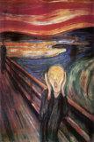 Skrik, ca. 1893 Posters av Edvard Munch