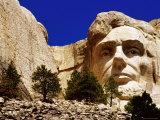 Carving of Abraham Lincoln at Mount Rushmore National Park, Black Hills, South Dakota Photographic Print by Richard Cummins