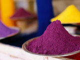 Colourful Tika Powder in Shop, Pushkar, Rajasthan, India Photographic Print by Daniel Boag