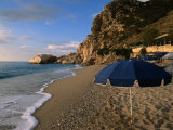 Umbrella on Kathisma Beach, Lefkada Island, Ionian Islands, Greece Photographic Print by Doug McKinlay