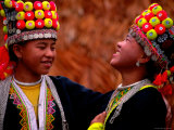 H'mong Girls, Huay Xai, Bokeo, Laos Photographic Print by Stu Smucker