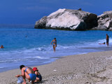People on Kathisma Beach, Lefkada Island, Ionian Islands, Greece Photographic Print by Doug McKinlay