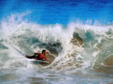 Bodyboarder at Sandy Beach, Oahu, Hawaii Photographic Print by Richard I'Anson