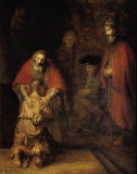 Tuhlaajapojan paluu (Return of The Prodigal Son) Juliste tekijn Rembrandt van Rijn