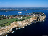 Sydney Heads and MS Europa, Sydney, New South Wales, Australia Photographic Print by Holger Leue