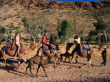 Camel Riding on the Sandy Bed of Todd River at Heavitree Gap,South of Alice Springs, Australia Photographic Print by Ross Barnett