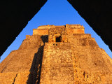 La Piramide del Adivino of Uxmal, Yucatan, Mexico Photographic Print by Dan Herrick