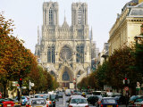Reims Cathedral, Reims, Champagne-Ardenne, France Photographic Print by Oliver Strewe