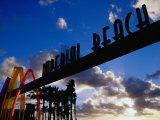 Entrance Arch through to the Imperial Beach Pier in San Diego, San Diego, California Photographic Print by Richard Cummins