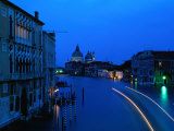 Canal from Accademia at Dusk, Venice, Italy Photographic Print by Christopher Groenhout