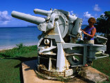 Anti-Aircraft Gun at War in the Pacific National Historical Park, Guam Photographic Print by John Elk III