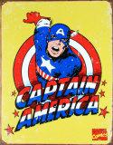 Capitán América (Marvel vintage) Cartel de chapa