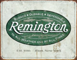 Remington Plaque en métal