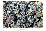 Plata sobre negro (Silver On Black) Foto por Jackson Pollock