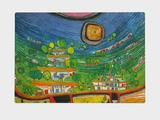 Hanging Houses Collectable Print by Friedensreich Hundertwasser