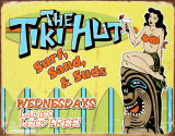 The Tiki Hut Tin Sign
