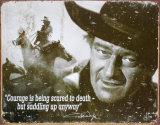 John Wayne Plaque en métal