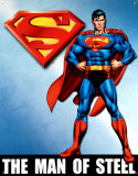 Superman Emaille bord