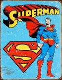 スーパーマン ブリキ看板