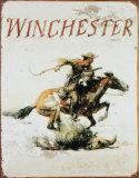 Winchester Plaque en métal
