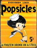 Popsicles Tin Sign