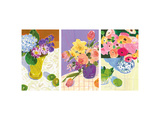 Floral Watercolors Triptych Prints