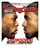 50 Cent vs. Kanye West, Rolling Stone no. 1035, September 2007 Photographic Print by Albert Watson