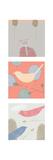 Yard Birds Triptych Premium Giclee Print