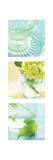 Aqua Spa Triptych Premium Giclee Print