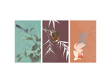 Eastern Animals Triptych Prints