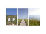Triptyque de sentier du littoral Photographie
