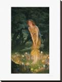 Midsummer Eve Impressão em tela esticada por Edward Robert Hughes