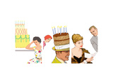 Birthday Celebrations Triptych Prints