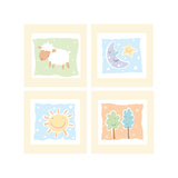 Baby Comforts Four Patch Prints