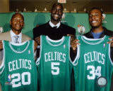 Ray Allen, Kevin Garnett and Paul Pierce Photo