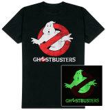 T-Shirt avec le Logo et Nom du Film SOS Fantômes Phosphorescent Vêtements