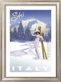 Ski Italy Posters by Kem Mcnair