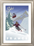 Ski France Prints by Kem Mcnair